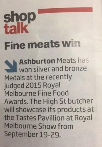 Fine meats win!