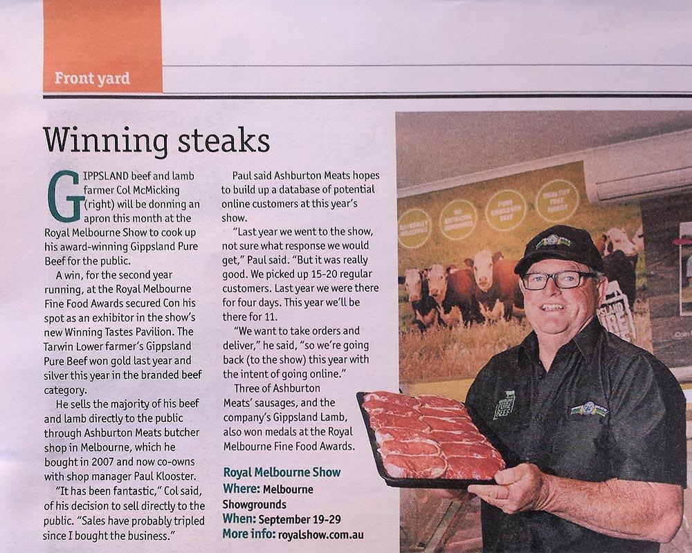 Winning steaks